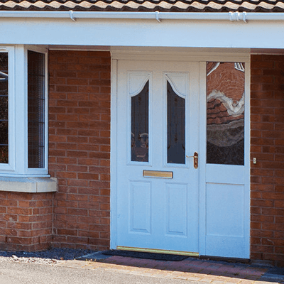 Image of a white door and window