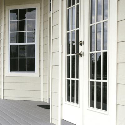 Image of a white door