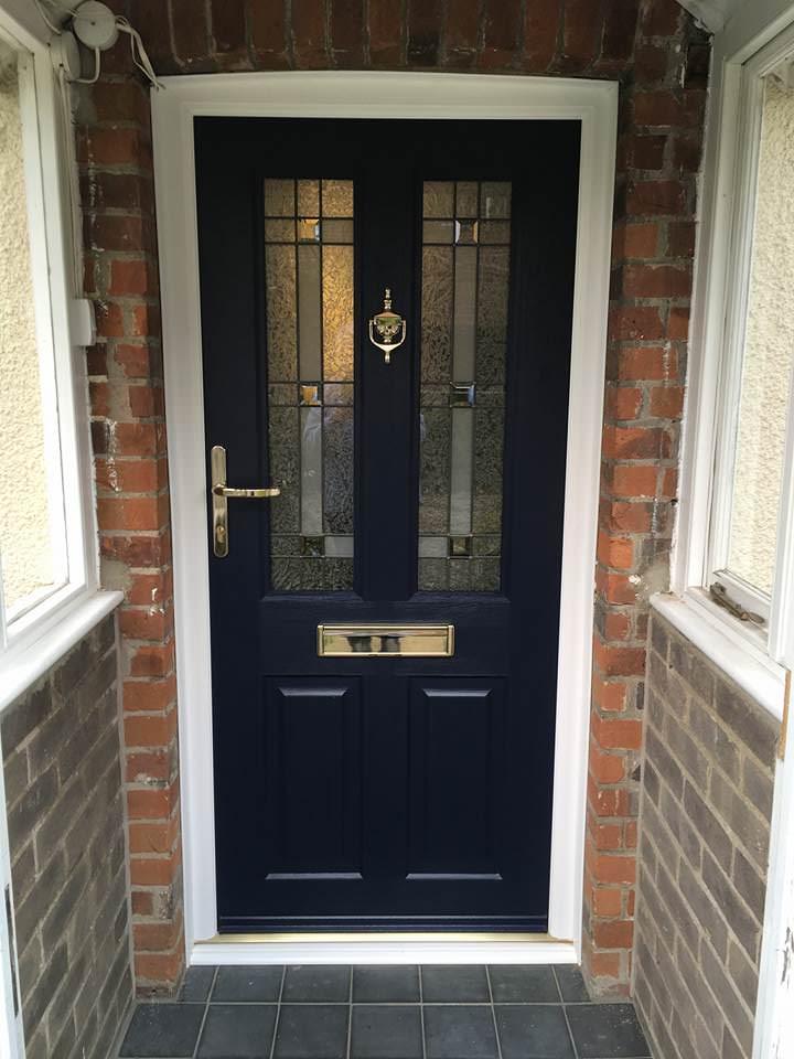 Image of black front door