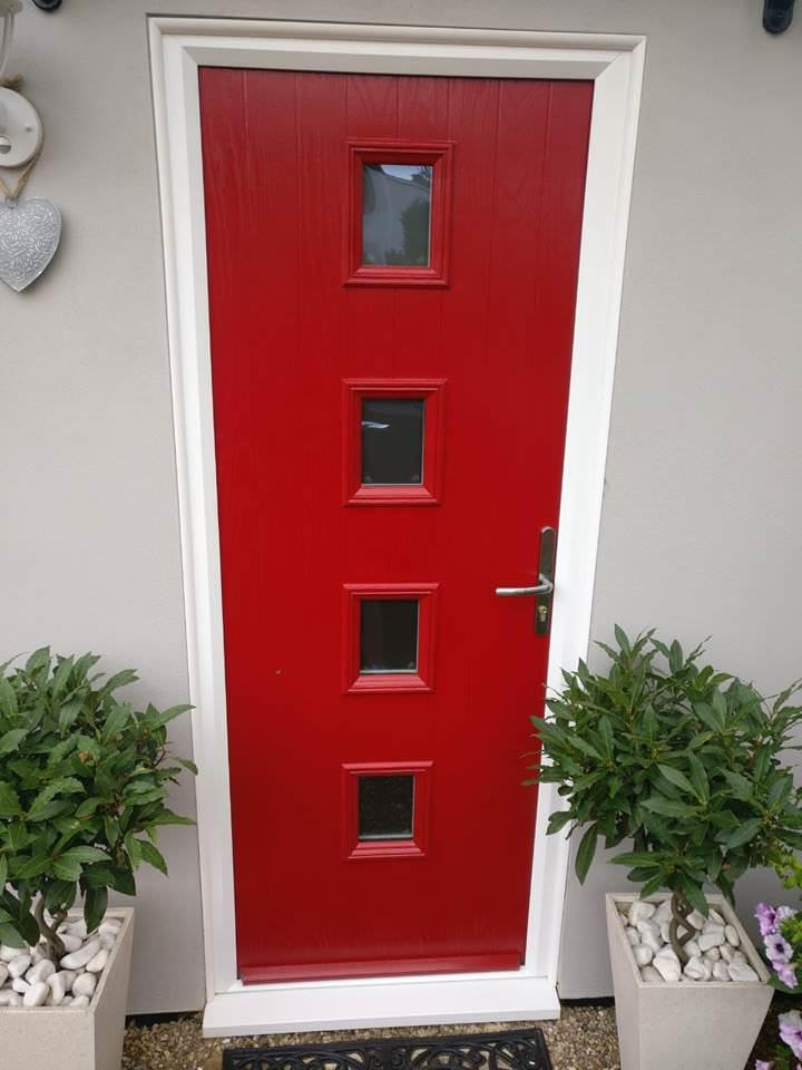 Image of red front door