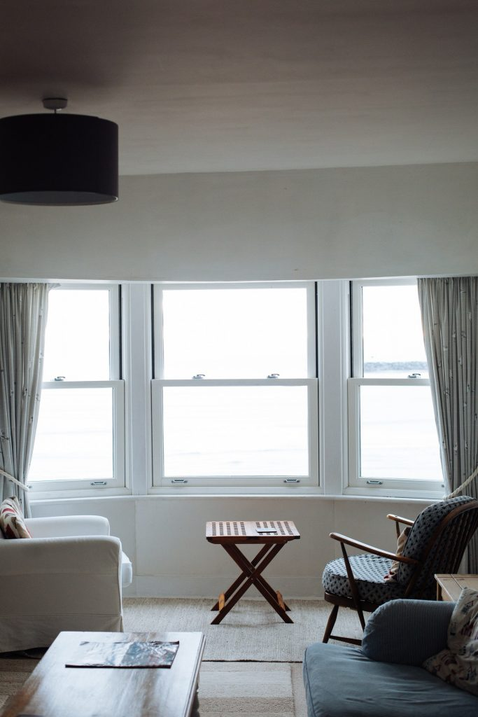 An image of a window letting in light.